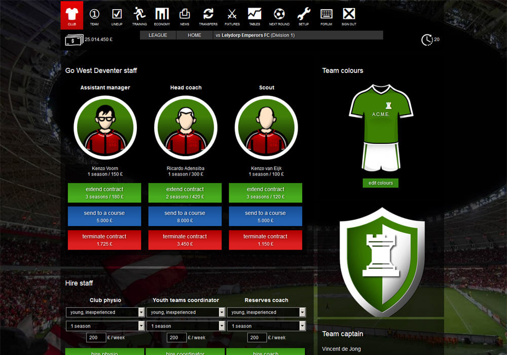 Online voetbalmanager